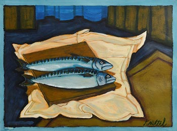 Graham Knuttel, Still Life - Mackerel at Morgan O'Driscoll Art Auctions