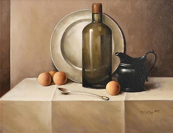 David French Le Roy, Still Life on Tabletop (2005) at Morgan O'Driscoll Art Auctions