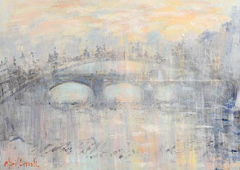 Marie Carroll, Ha'Penny Bridge, Dublin at Morgan O'Driscoll Art Auctions