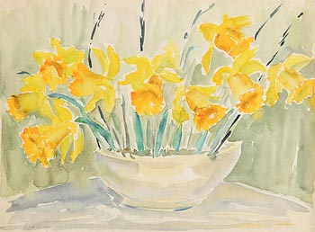 Fr. Jack P. Hanlon, Still Life - Daffodils at Morgan O'Driscoll Art Auctions
