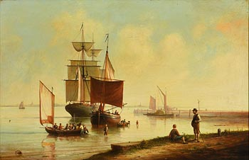 Brian Coole, Harbour Scene at Morgan O'Driscoll Art Auctions