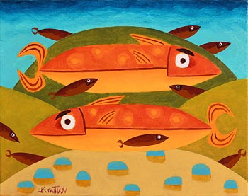 Graham Knuttel, Fish in the Deep at Morgan O'Driscoll Art Auctions