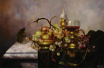 Furst, Still Life on Tabletop at Morgan O'Driscoll Art Auctions