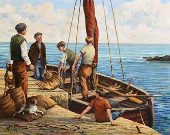 Tony McNally, Unloading the Catch at Morgan O'Driscoll Art Auctions
