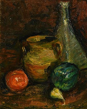 Gladys MacCabe, Still Life - Vessels and Fruit at Morgan O'Driscoll Art Auctions