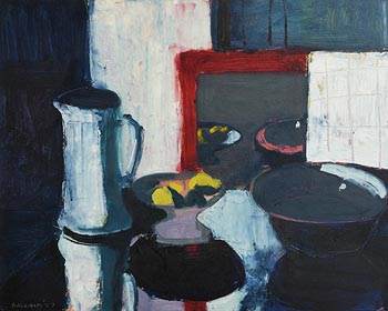 Brian Ballard, Lemons in Mirror (Red) (1987) at Morgan O'Driscoll Art Auctions