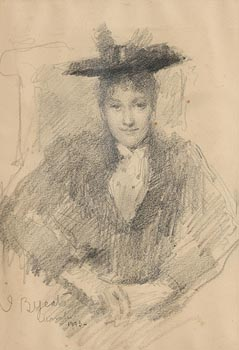 John Butler Yeats, Portrait of a Young Lady (1893) at Morgan O'Driscoll Art Auctions