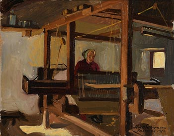Sean O'Sullivan, The Weaver (1952) at Morgan O'Driscoll Art Auctions