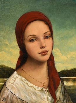 Ken Hamilton, Girl with the Gold Pendant at Morgan O'Driscoll Art Auctions