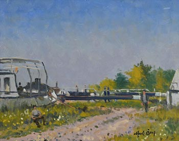 Maurice MacGonigal, Dutch Barge (1977) at Morgan O'Driscoll Art Auctions