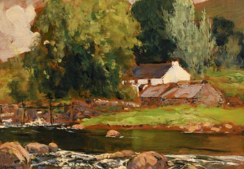 James Humbert Craig, Ina Cormac�s Bridge, Cushendun, Co. Antrim at Morgan O'Driscoll Art Auctions