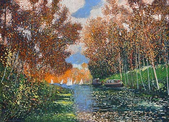 Victor Richardson, Canal du Midi, France at Morgan O'Driscoll Art Auctions