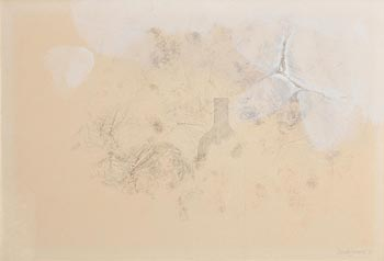 Derrick Greaves, Winter Drawing/Bottle (1970) at Morgan O'Driscoll Art Auctions