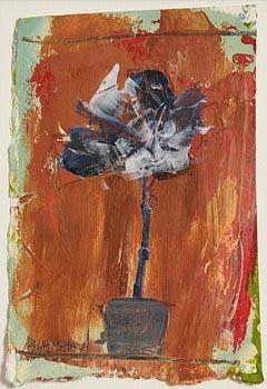 Basil Blackshaw HRHA RUA (1932-2016), Still Life - Potted Plant at Morgan O'Driscoll Art Auctions