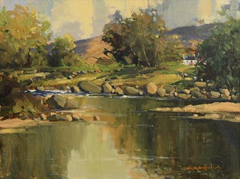 George K. Gillespie, Glendun River, Cushendun, Co Antrim at Morgan O'Driscoll Art Auctions