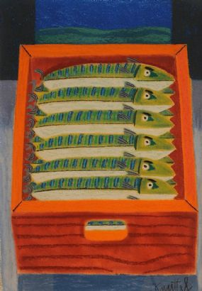 Graham Knuttel (b.1954), Fish Box at Morgan O'Driscoll Art Auctions