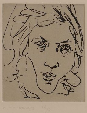 Louis Le Brocquy HRHA (1916-2012), Portrait of Anne Madden at Morgan O'Driscoll Art Auctions