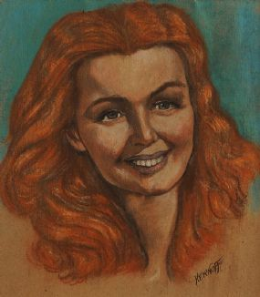 Harry Kernoff RHA (1900-1974), Portrait of a Red Haired Girl at Morgan O'Driscoll Art Auctions
