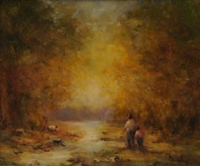Elizabeth Brophy (20th/21st Century), By The Stream at Morgan O'Driscoll Art Auctions