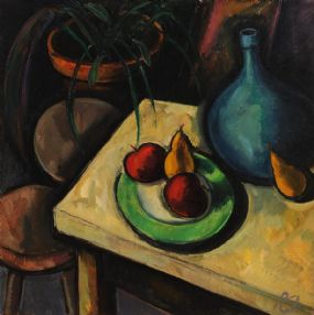 Peter Collis RHA (1929-2012), Still Life With Green Plate II at Morgan O'Driscoll Art Auctions