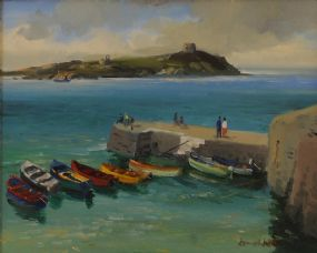 Kenneth Webb RWA FRSA RUA (b.1927), Dalkey Island from Coliemore Harbour at Morgan O'Driscoll Art Auctions