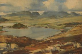 Cecil Maguire RHA RUA (b.1930), Connemara Landscape at Morgan O'Driscoll Art Auctions