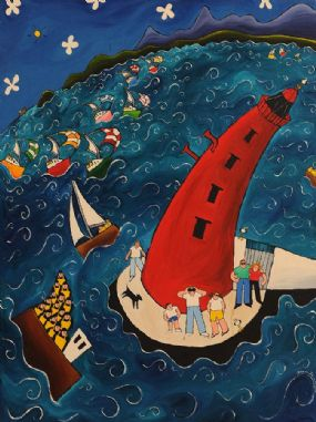 Shane Johnson (20th/21st Century), Poolbeg Sunshine at Morgan O'Driscoll Art Auctions