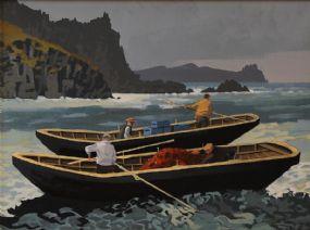 John Francis Skelton (20th/21st Century), Atlantic Break, The Blaskets, Kerry at Morgan O'Driscoll Art Auctions