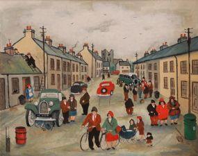 John Schwatschke (b.1943), Chance Meeting at Morgan O'Driscoll Art Auctions