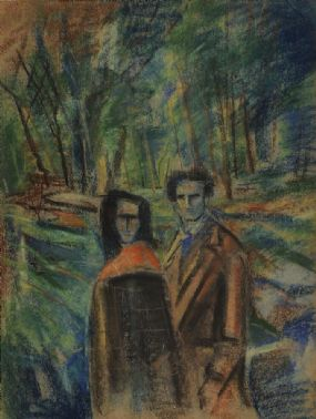 George Campbell RHA RUA (1917-1979), The Courting Couple at Morgan O'Driscoll Art Auctions