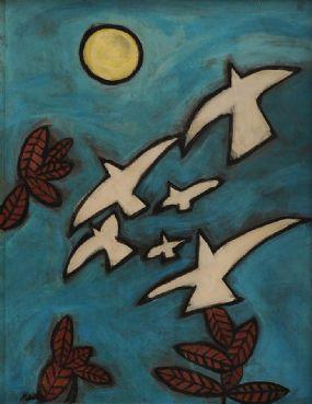 Markey Robinson (1918-1999), Doves at Morgan O'Driscoll Art Auctions