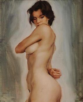 M.J Austin (b.1959), Nude Study at Morgan O'Driscoll Art Auctions