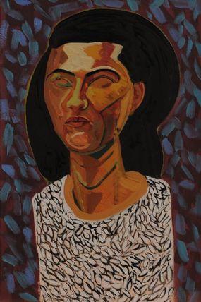 Brian Bourke HRHA (b.1936), Portrait of a Young Woman at Morgan O'Driscoll Art Auctions