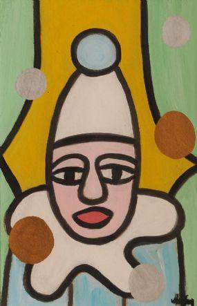 Markey Robinson (1918-1999), Clown at Morgan O'Driscoll Art Auctions