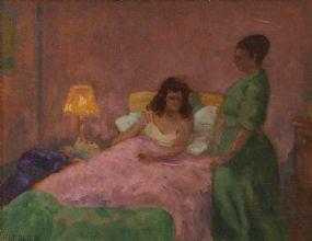 Patrick Leonard HRHA (1918-2005), Night Nurse at Morgan O'Driscoll Art Auctions