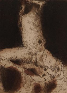 Hughie O'Donoghue (b.1953), Descent II at Morgan O'Driscoll Art Auctions