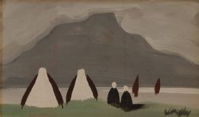 Markey Robinson (1918-1999), Gabel Ends with Figures at Morgan O'Driscoll Art Auctions