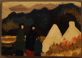Markey Robinson (1918-1999), Cottages with Figures at Morgan O'Driscoll Art Auctions