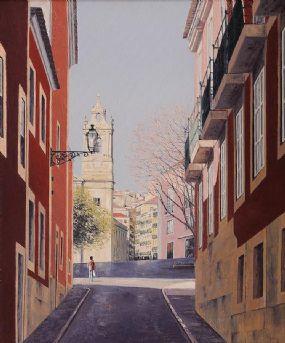 Virgilio Raposo (20th/21st Century) Portuguese, Morning in Lisbon at Morgan O'Driscoll Art Auctions