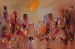 Carol Ann Waldron (20th/21st Century), Daytime in the City at Morgan O'Driscoll Art Auctions