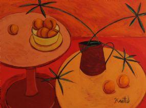 Graham Knuttel (b.1954), Still Life Jug, Flowers and Fruit at Morgan O'Driscoll Art Auctions