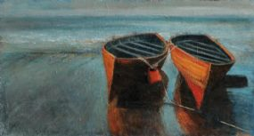 Francis Coughlan (20th/21st Century), Two Boats, Bray Head at Morgan O'Driscoll Art Auctions