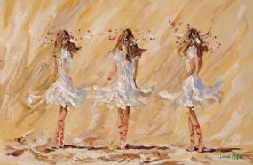 Lorna Millar (20th/21st Century), Three Ballerinas at Morgan O'Driscoll Art Auctions