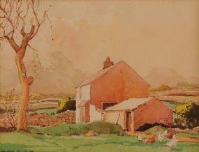 Maurice Canning Wilks ARHA RUA (1911-1984), Cottage at Cushendun at Morgan O'Driscoll Art Auctions
