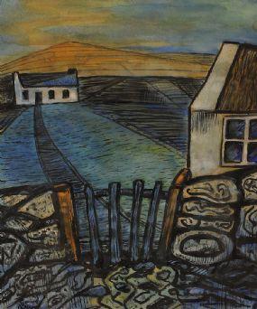Gerard Dillon RHA RUA (1916-1971), Pathway to the Cottage at Morgan O'Driscoll Art Auctions