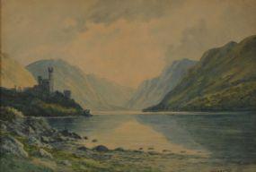 Douglas Alexander RHA (1871-1945), Glenveagh Castle, Co. Donegal at Morgan O'Driscoll Art Auctions
