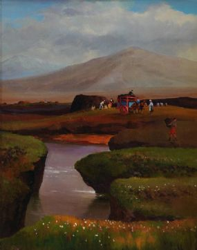 Kenneth Webb RWA FRSA RUA (b.1927), The Turf Cutters at Morgan O'Driscoll Art Auctions