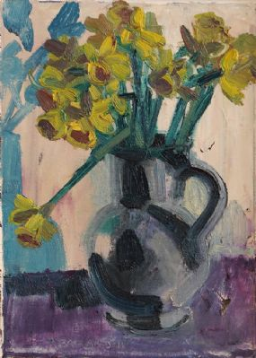 Brian Ballard RUA (b.1943), Still Life Daffodils in a Vase at Morgan O'Driscoll Art Auctions