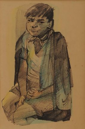 George Campbell RHA RUA (1917-1979), Gypsy Boy at Morgan O'Driscoll Art Auctions