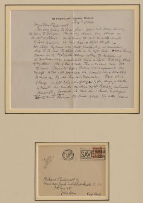 Jack Butler Yeats RHA (1871-1957), Letter to Richard Pearshall at Morgan O'Driscoll Art Auctions